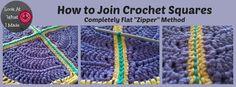 Flat Zipper Joining Method for Granny Squares Tutorial via @freecrochettuts