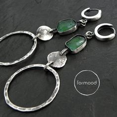 earrings / ancient glass, sterling silver