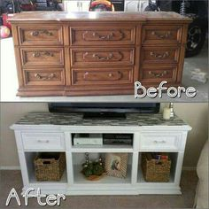 ☮ American Hippie DIY ☮ Upcycled dresser cabinet.