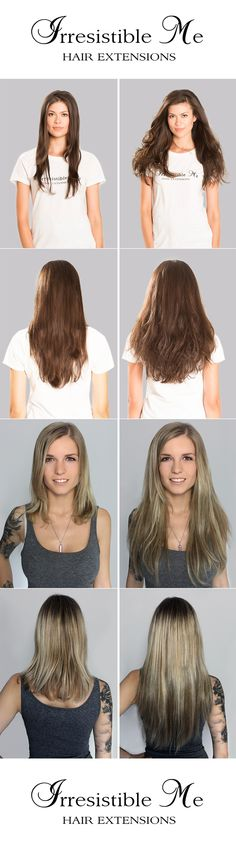 Make a big hairstyle change with Irresistible Me 100% human Remy clip-in hair extensions. You can add instant length and volume to your hair by just clipping them in. Can be cut, dyed and heat styled. Great selection of colors. You can choose the length and weight. Free US returns and exchanges, worldwide delivery. Fill in our fun quiz to get options tailored for your style.