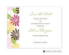 Flower Power Save The Date