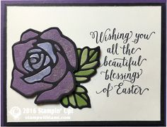VIDEO: How to create this Stained Glass Easter Rose Technique | Stampin Up Demonstrator - Tami White——— Stampin Up Supplies • Suite Sayings Clear-Mount Stamp Set #140712 • Rose Garden Thinlit Dies for Sizzix • Basic Black 8-1/2X11 Card Stock #121045 • Very Vanilla 8-1/2X11 Card Stock #101650 • Elegant Eggplant 8-1/2X11 Card Stock #105126 • Perfect Plum 8-1/2X11 Card Stock #101889 • Wisteria Wonder 8-1/2 X 11 Card Stock #122922 • Old Olive 8-1/2X11 Card Stock #100702 • Pear Pizzazz