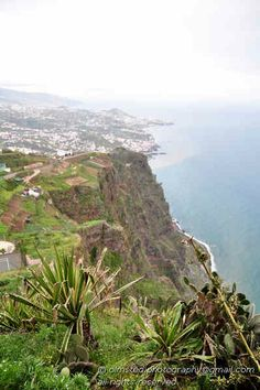 Madeira, view from Cabo Girao alt 580m looking toward Funchal.