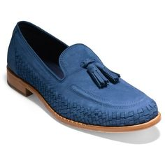 Men's Cole Haan Washington Grand Tassel Loafer (18.085 RUB) ❤ liked on Polyvore featuring men's fashion, men's shoes, men's loafers, navy peony nubuck, mens navy blue loafers, mens shoes, mens loafer shoes, mens navy shoes and mens tassel loafers