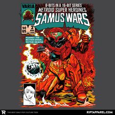''Samus Wars'' by Ninjaink available today only, 8/13/15, at RIPT Apparel