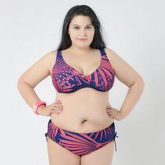 Bikini Set Plus Size Bikinis Women 2017 Push Up Big Girl 5XL Large Size Swimwear Biquines Feminino Swimsuit Drawstring Biquine