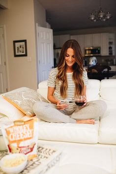 060f58beaab0c lauren sims perfect girls night at home with wholey cheese! crackers Lauren  Kay Sims