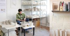 Ceramic Arts Daily – A Visit Across the Pond to Billy Lloyd's Pottery Studio
