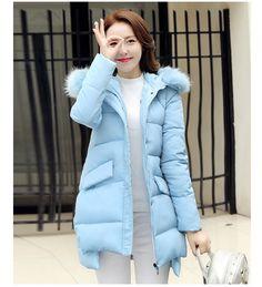 Snow Wear Faux Fur Hood Parka Winter Jacket Women Thick Warm Cotton Winter Coat Women Casaco Manteau Femme ZY1721