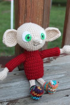 Pattern for dobby. Please let me know if you make one. I'd LOVE to see it! This is my first pattern I've ever made, it has not really been tested, so there may be errors....