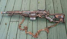 Steampunk ZOMBIE Laser Pirate Gun Nerf by oldjunkyardboutique