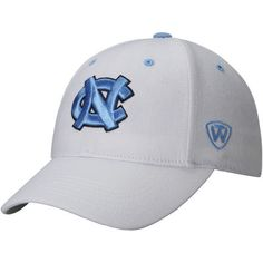 buy popular 2b5e4 8e424 Mens North Carolina Tar Heels Top of the World White Dynasty Memory Fit  Fitted Hat