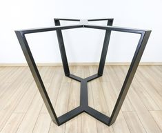 Steel Table Base, Dining Table Base, Industrial Steel Table Leg, Modern Table Base, Unique Metal Table Frame for Glass, Wood, Marble, Quartz Metal Table Frame, Metal Table Legs, Dining Table Legs, Glass Dining Table, Table Bases, Tables, Dining Room, Modern Table Legs, Industrial Table Legs