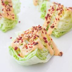 mini wedge salad with spicy chipotle tomato dressing