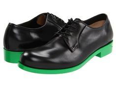 Not really sure why these shoes cost $875.  But the green soles are sweet!  AND THEY'RE ON SALE FOR ONLY $261.99!!!!!  LOL   Jil Sander Memphis Nero - 6pm.com