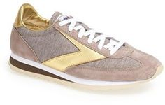 Brooks 'Vanguard' Sneaker (Women) #yellow #gray #taupe #gold #sneakers #fashion #shoes