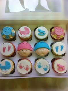 Baby Shower, Cupcakes Cake by cakeybakey