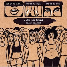 We march with you, Bia - Carol Rossetti Feminist Af, Feminist Quotes, Motivation Sentences, Riot Grrrl, Sad Art, Intersectional Feminism, Power Girl, Powerful Women, Women Empowerment