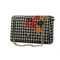 a7bf23eaa72 Art Nouveau Large size black star bag, wool with embroidery Art Nouveau  flower patterns- silver color fittings- FLIGHT ST0105 collection