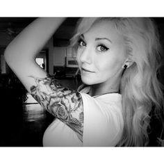 Rose tattoo. Half sleeve.