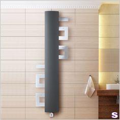 Badheizkörper elektrisch E-Tizia - SEBASTIAN e.K. – Wandlungsfähig. –  E-Tizia wird allen Erfordernissen gerecht. Mit eingezogenen Handtuchbügeln präsentiert er sich schlank und erhaben. #elektrisch #einrichtung #design #heizkörper