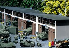 Faller military repair shed, small