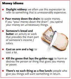 Money idioms.