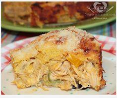 Torta de PRATICA frango de liquidificador sem farinha de trigo (kostenlos Gluten