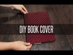 DIY SLIP ON BOOK COVER - YouTube