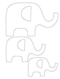 Moldes para hacer elefantes con fieltro04                                                                                                                                                                                 Más