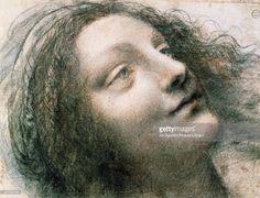 Head of the Virgin, 1508-1512, by Leonardo da Vinci