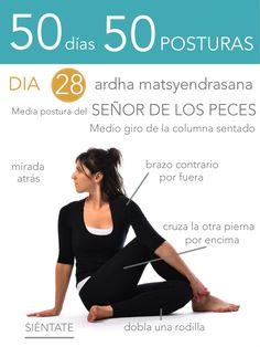 ૐ YOGA ૐ ૐ ASANAS ૐ ૐ Ardha Matsyendrasana ૐ  50 días 50 posturas. Día 28. El Señor de los Peces