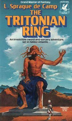 VINCENT DI FATE - The Tritonian Ring by L. Sprague de Camp - 1977 Del Rey / Ballantine