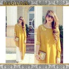 """""""@wajihaimrann looking absolutely stunning in this Zehra Saleem outfit. This mustard stunner outfit is great for a day out with friends or family. #ootd…"""""""