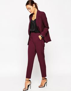 Suit in Marsala Red....