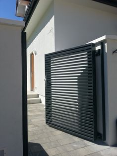Savory Modern fence design ideas,Unique front yard fence and Fencing ideas style. Side Gates, Front Gates, Entrance Gates, House Entrance, Front Doors, Sliding Doors, Driveway Gate, Fence Gate, Fence Panels