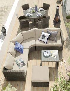 Garden Furniture Next monaco natural corner sofa garden set from next   house design