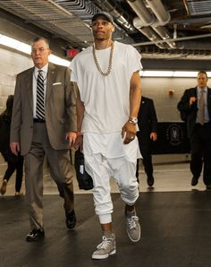 Western Conference Quarterfinals Pants Rick Owens Shirt Fear Of God Shoes Christian Louboutin Hat B. Nba Fashion, Weird Fashion, Miami Fashion, Mens Fashion, Russell Westbrook Outfits, Russel Westbrook Fashion, Stylish Men, Men Casual, Casual Outfits