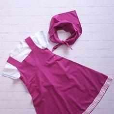 Vestido inspirado na Masha (Masha e o Urso). Confeccionado em tricoline, 100% algodão. Acompanha vestido, blusa e lenço. Disponível para encomenda nos tamanhos de: - 1 a 8 anos