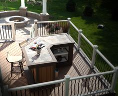 Outdoor Deck Bar And Fire Pit