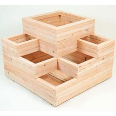 Fat Leaf Large Spiral Planter ...... Could easily make your own with treated 2x4