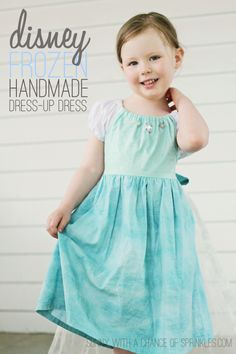 Disney Frozen Elsa-Inspired Handmade Dress-Up Dress -- this is just about the cutest thing I've ever seen!