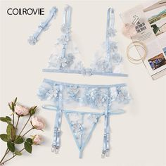To find out about the Applique Sheer Garter Lingerie Set With Choker at SHEIN, part of our latest Sexy Lingerie ready to shop online today! Lingerie Look, Lace Lingerie Set, Bridal Lingerie, Beautiful Lingerie, Luxury Lingerie, Lingerie Models, Best Thermal Underwear, Expensive Lingerie, Lingerie Transparente