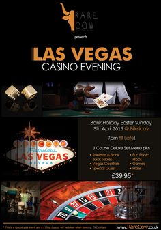 Our Vegas night on Bank Holiday Easter Sunday will be a knock out event! Can't wait for this