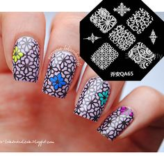 $1.99 1Pc Nail Art Stamp Template Exquisite Arabesque Floral Pattern QA65 - BornPrettyStore.com