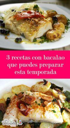 recetas de bacalao faciles | CocinaDelirante Salmon Recipes, Food And Drink, Soup, Fish, Chicken, Meat, Gourmet, Baked Cod Recipes, Japanese Food Recipes