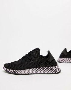 Image 1 of adidas Originals Deerupt Sneakers In Black And Lilac Tênis Com  Salto, Tipos 7d59e82a1e