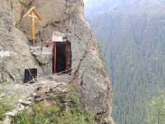 Post with 0 votes and 59 views. Father Arsenie Boca Cell in the Romanian mountains. Nature Artwork, Beautiful Places To Travel, Amazing Places, Christian Church, Tourist Places, Place Of Worship, Romania, Chile, The Good Place