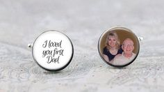 Father of the Bride Cufflinks Photo Cufflinks I Loved by KCowie