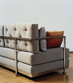 vicente wolf couch at ralph pucci Design Furniture, Metal Furniture, Sofa Furniture, Modern Furniture, Sofas, Sectional Sofa, Console Design, Modul Sofa, Banquette